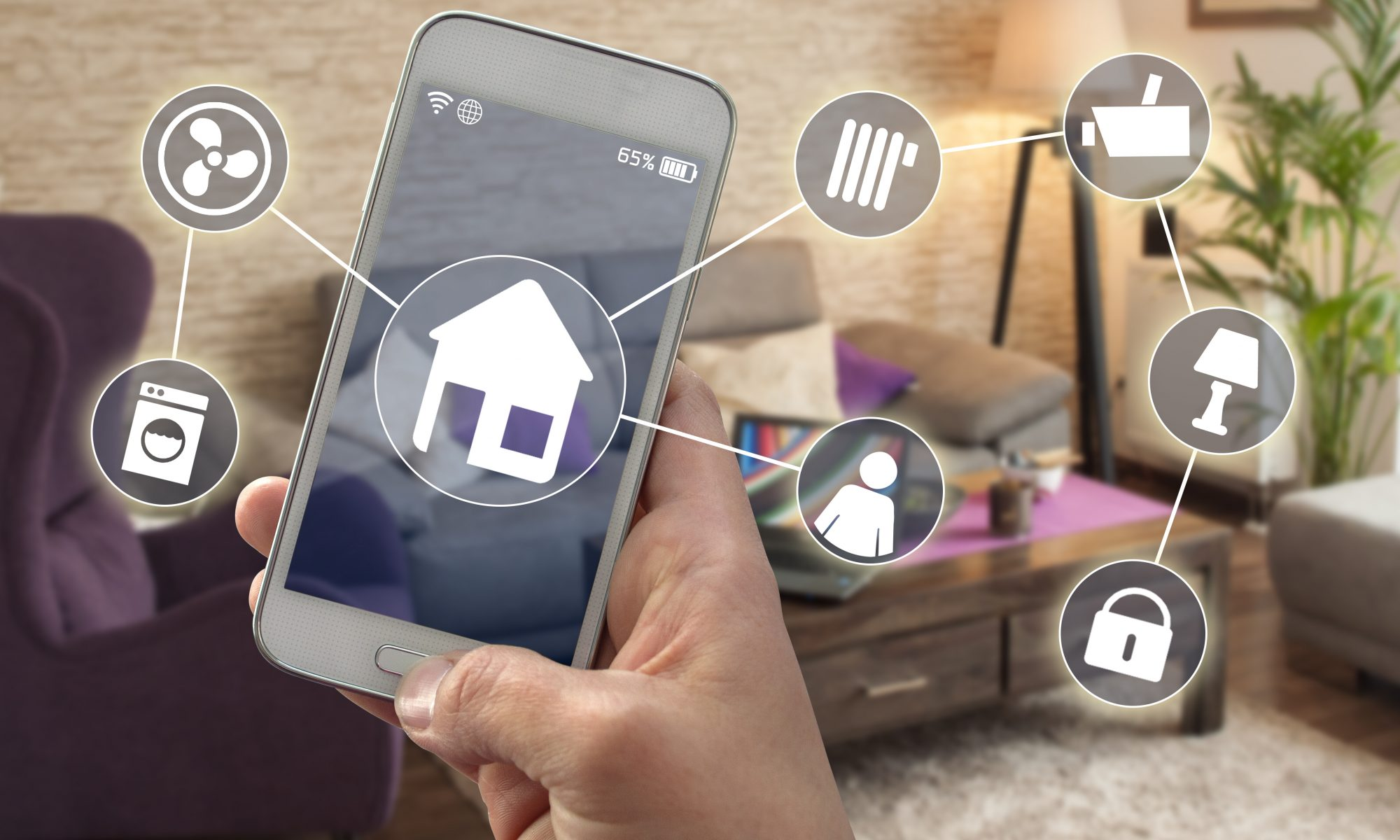DS ELEC 24143442 Smarthome Smartphone Hausautomatioon Smart Home 2000x1200